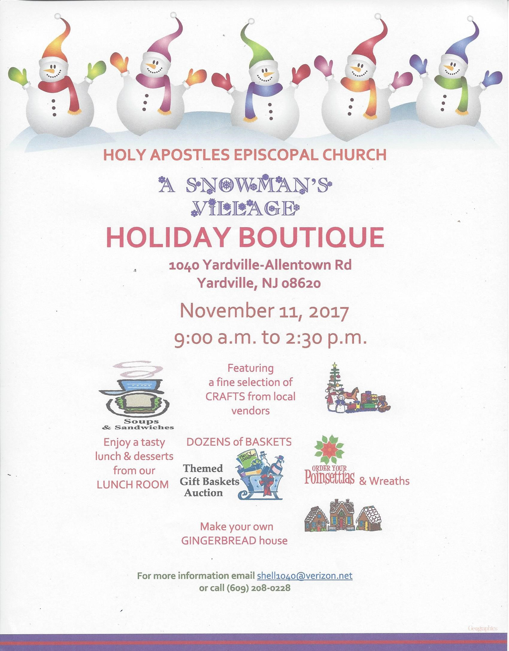 Holiday Boutique - November 11, 2017