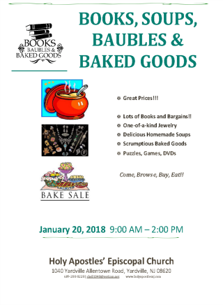 Books, Soups, Baubles & Baked Goods