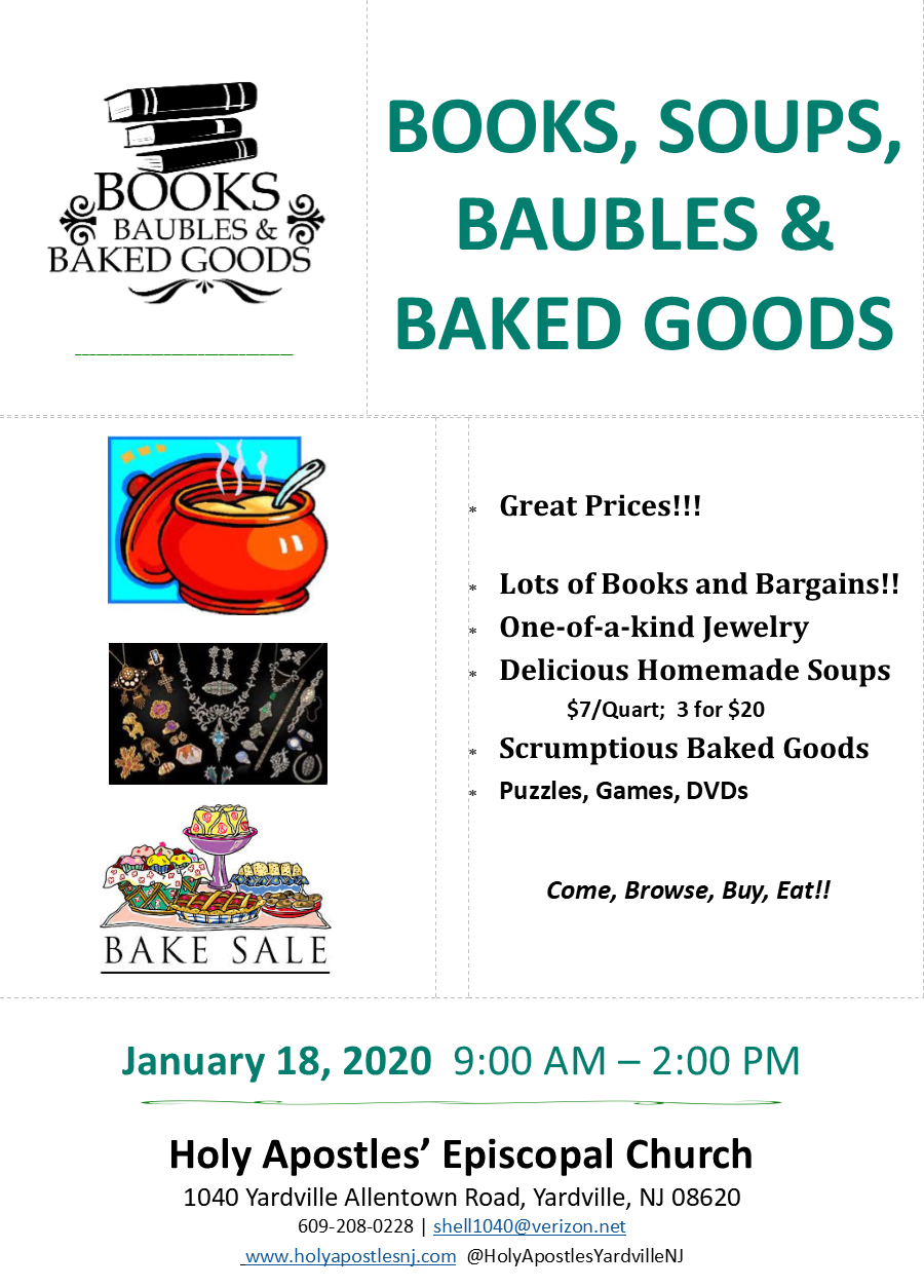 Books, Soups, Baubles & Baked Goods - January 18, 2020