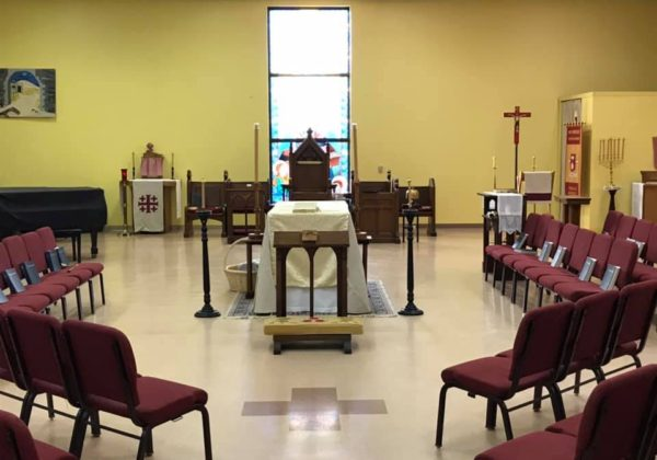 SANCTUARY READY FOR ASH WEDNESDAY 2020