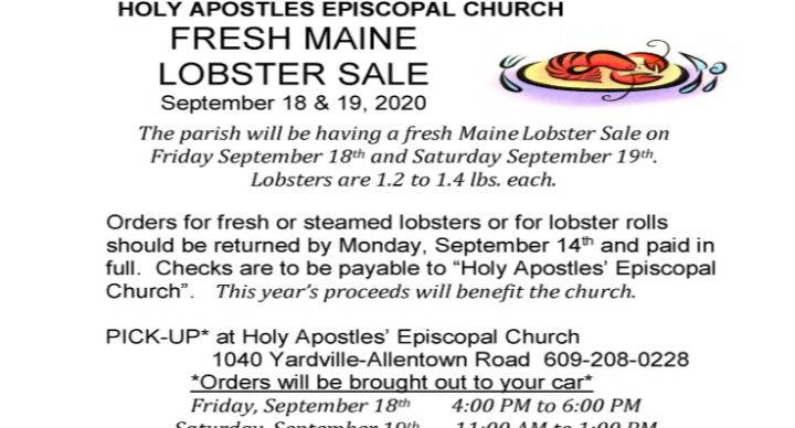 Maine Whole Lobster Sale - September 18 & 19, 2020
