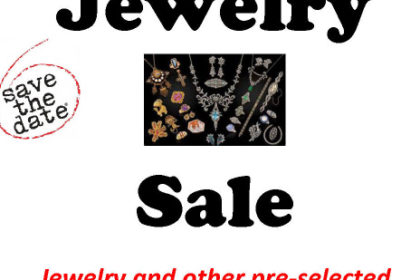 Jewelry Sale Fundraiser- August 15, 2020 8am - 12noon