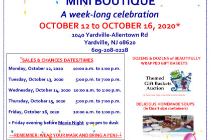 Mini Boutique - Week of October 12, 2020